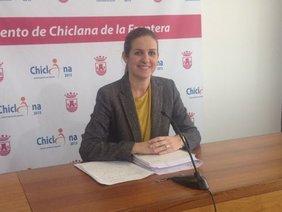 Carmen Jiménez, durante la rueda de prensa.