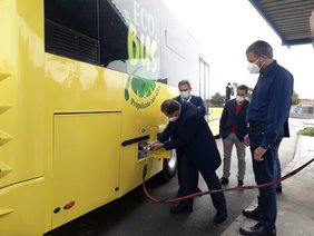 Imagen de archivo del autobús con biogás