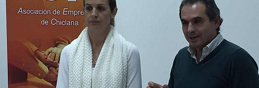 Carmen Jiménez y Nicolás Rodríguez, durante la reunión.